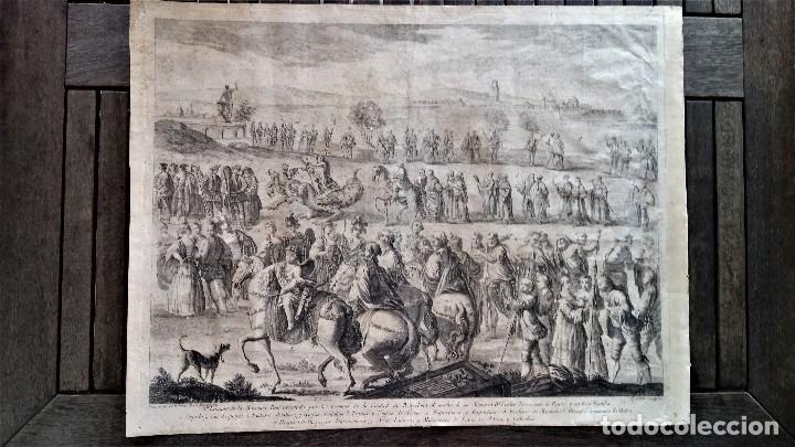 Arte: GRABADO ORIGINAL,SIG.XVIII,AÑO 1764, REY CARLOS III EN BARCELONA,MASCARA REAL,DE FRANCISCO TRAMULLAS - Foto 22 - 126116827