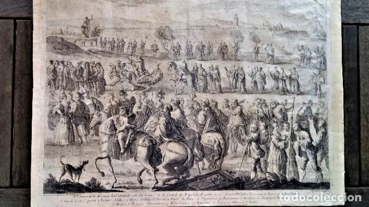 Arte: GRABADO ORIGINAL,SIG.XVIII,AÑO 1764, REY CARLOS III EN BARCELONA,MASCARA REAL,DE FRANCISCO TRAMULLAS - Foto 11 - 126116827