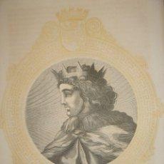 Arte: GRABADO JUAN I DE CASTILLA, ORIGINAL, 1864, BARCELONA / MADRID, VÍCTOR GEBHARDT. Lote 126157795