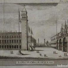 Arte: VISTA DE LA PLAZA DE SAN MARCOS DE VENECIA, ITALIA, EUROPA, 1743. ROGISSART/ MORTIER. Lote 126403975