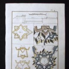 Arte: ARTE MILITAR, FORTIFICACIÓN II, 1782. DIDEROT Y D'ALEMBERT. Lote 126404843