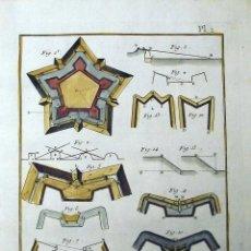 Arte: ARTE MILITAR, FORTIFICACIÓN III, 1782. DIDEROT Y D'ALEMBERT. Lote 126405371