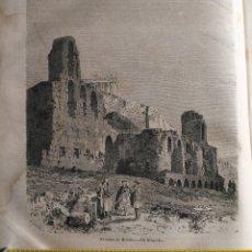 Arte: ATENAS 1869 - GRABADO ORGINAL DE PUBLICACION - EL TEATRO DE HERODOS. Lote 126434615
