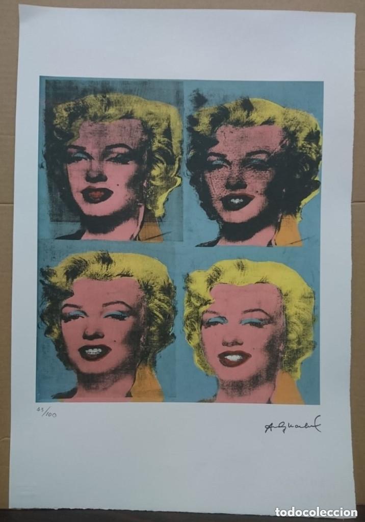 GRABADO ORIGINAL DE ANDY WARHOL,MARILYN MONROE,NUMERADO A LAPIZ,CON FIRMA Y MARCA DE AGUA,57X38 CMS (Arte - Grabados - Contemporáneos siglo XX)