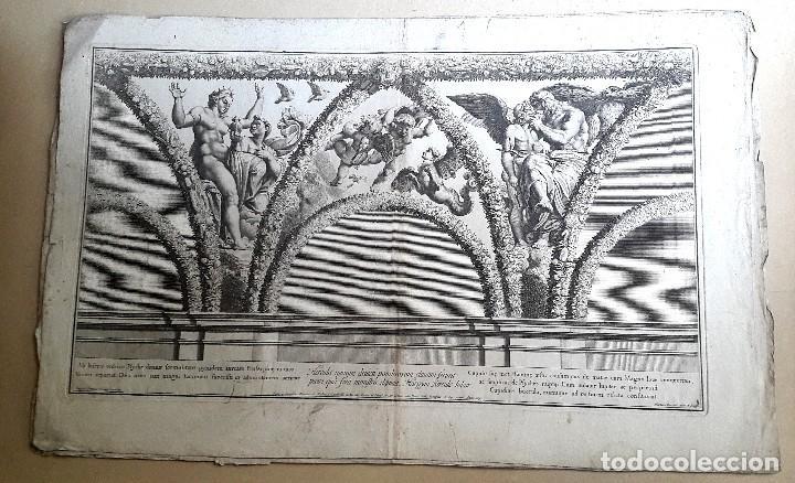 GRABADO - NICOLAS DORIGNY (1657-1746) - RAFAEL - CAPILLA CHIGI (Arte - Grabados - Antiguos hasta el siglo XVIII)