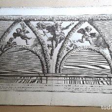 Arte: GRABADO - NICOLAS DORIGNY (1657-1746) - RAFAEL - CAPILLA CHIGI. Lote 126927535
