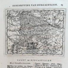 Arte: MAPA DE CASTILLA -VALLADOLID - BURGOS - AVILA - SORIA - AÑO 1707. Lote 126939871