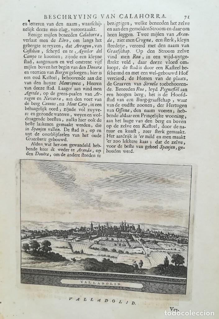 GRABADO VISTA CIUDAD DE VALLADOLID - AÑO 1707 (Arte - Grabados - Antiguos hasta el siglo XVIII)