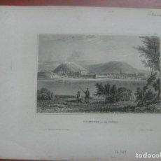 Arte: -HAIMBURG-AN DER DONAU- ALEMANIA- ORIGINAL GRABADO AL ACERO POR D.VERLEGER ALREDEDOR DE 1840. Lote 126944383