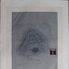 Arte: ANTONIO TAPIES -GRABADO AGUAFUERTE GOFRADO FIRMADO Y NUMERADO A MANO POR EL ARTISTA .. Lote 126963199