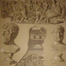 Arte: GRABADO ESCULTURAS ANTIGUAS DE TARRAGONA, ORIGINAL, 1883, BARCELONA,PUJADAS.. Lote 126999967