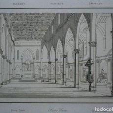 Arte: VISTA DEL INTERIOR DE LA BASÍLICA DE LA SANTA CRUZ (FLORENCIA), 1840.. Lote 127122959