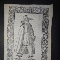 Arte: XILOGRAFÍA DE UN HOMBRE DE GALICIA, 1598. VECELLIO. Lote 127126335
