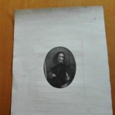 Arte: RETRATO DE VELÁZQUEZ, FEDERICO NAVARRETE DIBUJÓ Y GRABÓ.CALCOGRAFIA NACIONAL. AGUAFUERTE. CA 1870. Lote 127126355