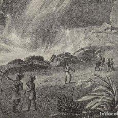 Arte: VISTA DEL SALTO DEL RIO URUGUAY ( SANTA CATARINA, BRASIL), 1831. WERNER Y HONNEGGER. Lote 127127675