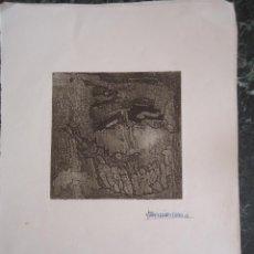 Arte: GRABADO, XILOGRAFÍA ORIGINAL,DEL ARTISTA URUGUAYO ENRIQUE FERNANDEZ BROGLIA. Lote 127227583