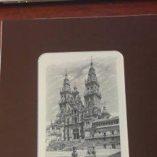 Arte: SANTIAGO COMPOSTELA CATEDRAL GRABADO 1993 FNMT 2000 TIRADA ANTONIO MANSO 18X12 N/ 1864. Lote 127234687