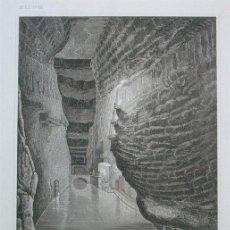 Arte: VISTA DE LA MINA DE SAL DE WIELICZKA (POLONIA, EUROPA), 1860. INS HILDBURGHAUSEN/METZEROTH. Lote 127412683