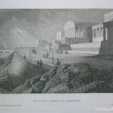 Arte: ESCUELA DE ARQUITECTURA DE EDIMBURGO( ESCOCIA, REINO UNIDO), 1840. INS. HILDBURGHAUSEN/ MARTINI. Lote 127432903