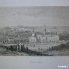 Arte: VISTA DE LA CIUDAD DE ALEJANDRÍA (EGIPTO, AFRICA), 1850. INS. HILDBURGHAUSEN. Lote 127435551