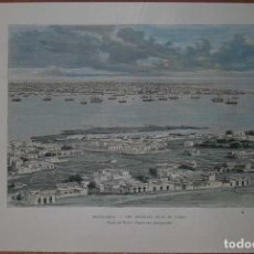 Arte: VISTA PANORÁMICA DE LA CIUDAD DE MONTEVIDEO (URUGUAY, AMÉRICA DEL SUR), 1894. RECLUS. Lote 127637987