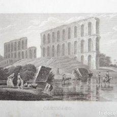 Arte: ANTIGUA VISTA DE RUINAS ARQUEOLÓGICAS EN LA CIUDAD DE CARTAGO (TÚNEZ, ÁFRICA), CA. 1850. ANÓNIMO. Lote 127638095