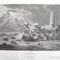 Arte: VISTA DEL TEMPLO GRIEGO DE SELINUNTE (SICILIA, ITALIA, EUROPA), CIRCA 1850.A ANÓNIMO. Lote 127638231
