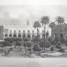 Arte: VISTA PANORÁMICA DE LA HABANA (CUBA), HACIA 1850. INSTITUTO HILDBURGHAUSEN. Lote 127638335