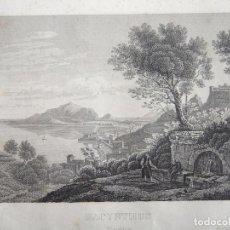 Arte: ANTIGUA VISTA DE LA CIUDAD DE ZANTE (GRECIA, EUROPA), HACIA 1850. ANÓNIMO. Lote 127638655