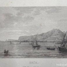 Arte: ANTIGUA VISTA DE LA CIUDAD DE ERICE (SICILIA, ITALIA), CA. 1850. ANÓNIMO. Lote 127639099