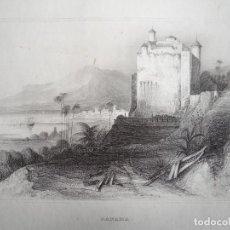 Arte: ANTIGUA VISTA DE LA CIUDAD DE PANAMÁ (AMÉRICA CENTRAL), CA. 1850. INS. HILDBURGHAUSEN. Lote 127639383