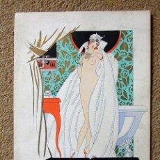 Arte: PUBLICIDAD SOBRE EL CUIDADO DE LA PIEL ,ART DECO, 1920. BONNOTTE/POLAK. Lote 127640071