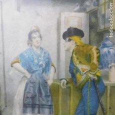 Arte: GRABADO ESPAÑOL CON MARCO DE MADERA. Lote 127640551