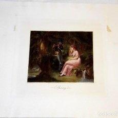 Arte: GRABADO DE F. BARTOLOZZI R.A.- PINTURA DE W. HAMILTON - SPRINGLE - PUBLICADO POR P.W. TOMKINS 1795. Lote 127678319