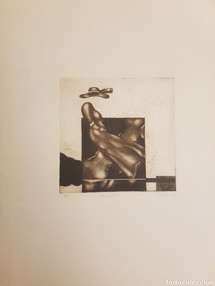 Arte: Ruperto Cádiz Rivas, Santiago, Chile(1944), grabado original Alejandra, P/E, firmado y fechado. 1975 - Foto 2 - 127683814