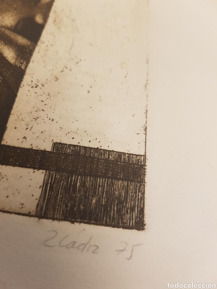 Arte: Ruperto Cádiz Rivas, Santiago, Chile(1944), grabado original Alejandra, P/E, firmado y fechado. 1975 - Foto 5 - 127683814