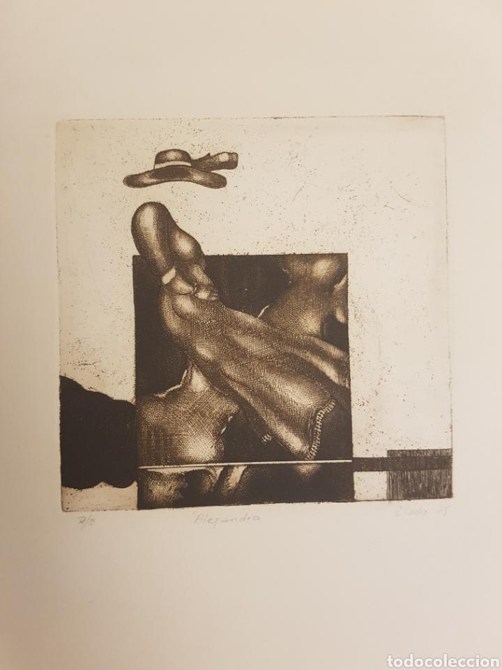 RUPERTO CÁDIZ RIVAS, SANTIAGO, CHILE(1944), GRABADO ORIGINAL ALEJANDRA, P/E, FIRMADO Y FECHADO. 1975 (Arte - Grabados - Contemporáneos siglo XX)