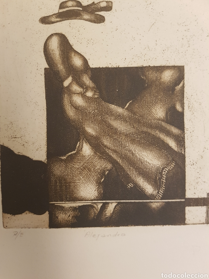 Arte: Ruperto Cádiz Rivas, Santiago, Chile(1944), grabado original Alejandra, P/E, firmado y fechado. 1975 - Foto 3 - 127683814