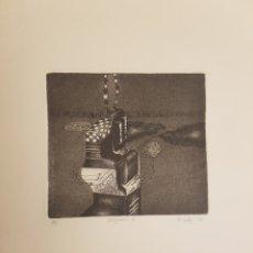 Arte: RUPERTO CÁDIZ RIVAS, SANTIAGO, CHILE(1944), GRABADO ORIGINAL ARTEFACTO-B , P/E, FIRMADO. 1975. Lote 127683996