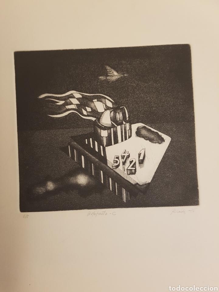 Arte: RUPERTO CÁDIZ RIVAS, SANTIAGO, CHILE(1944), GRABADO ORIGINAL ARTEFACTO-C , 1/5, FIRMADO. 1975 - Foto 4 - 127684190