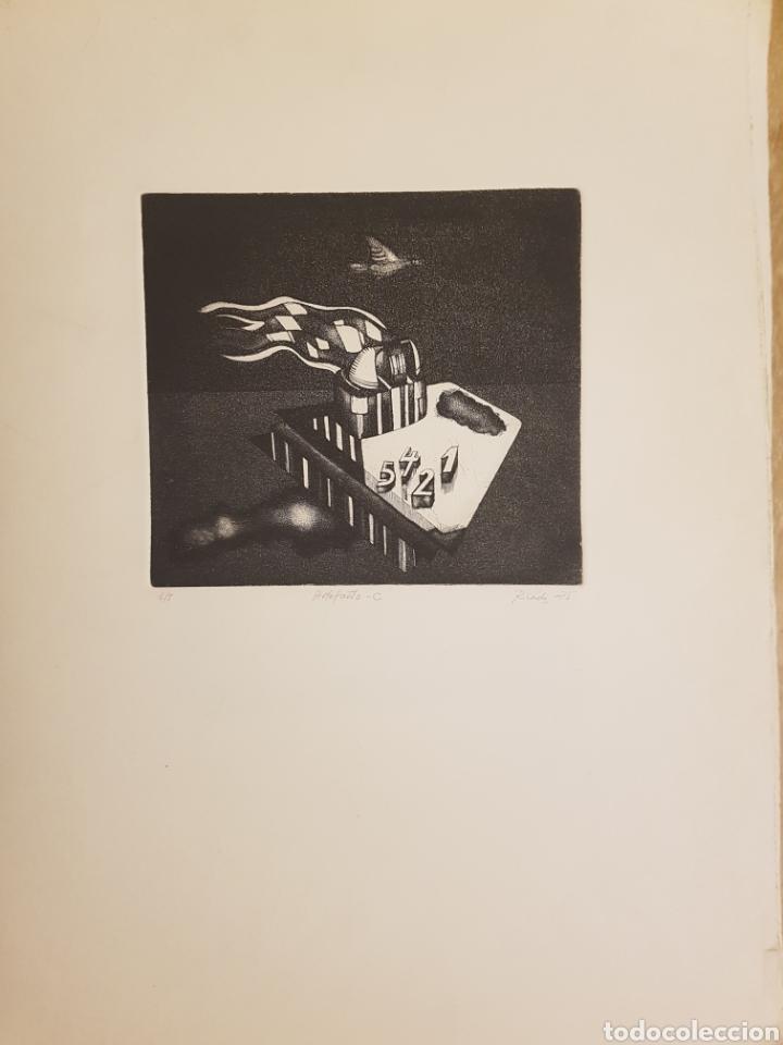 RUPERTO CÁDIZ RIVAS, SANTIAGO, CHILE(1944), GRABADO ORIGINAL ARTEFACTO-C , 1/5, FIRMADO. 1975 (Arte - Grabados - Contemporáneos siglo XX)