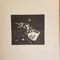 Arte: RUPERTO CÁDIZ RIVAS, SANTIAGO, CHILE(1944), GRABADO ORIGINAL ARTEFACTO-C , 1/5, FIRMADO. 1975. Lote 127684190