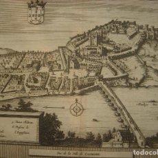 Arte: GRABADO VISTA DE COIMBRA , PORTUGAL, ORIGINAL, VAN DER AA, 1707. Lote 128070871