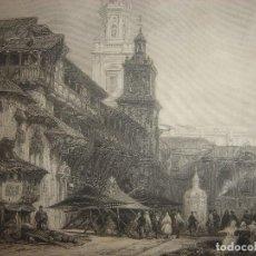 Arte: GRABADO VITORIA, ORIGINAL,1837, DAVID ROBERTS, 1ª EDICIÓN, DATADO EN PLANCHA, ESPLÉNDIDO. Lote 128169019