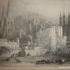 Arte: GRABADO BURGOS ,ORIGINAL,1837,DAVID ROBERTS, 1ª EDICIÓN,DATADO EN PLANCHA, ESPLÉNDIDO. Lote 128169611