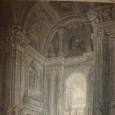 Arte: GRABADO ALTAR MAYOR IGLESIA SAN ISIDRO, MADRID, ORIGINAL,1837, DAVID ROBERTS, 1ª EDICIÓN. Lote 128173367