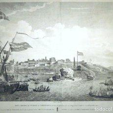 Arte: VISTA DEL PUERTO Y CIUDAD DE TARRAGONA (ESPAÑA), 1802. LEGIER/BEAUJEAN/DEQUEVAUVILLER. Lote 128346043