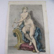 Arte: DESNUDO BARROCO DE UNA MUJER SENTADA, 1750. PREISSLER. Lote 128437991