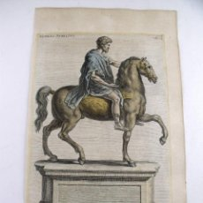 Arte: ESTATUA ECUESTRE DE EMPERADOR ROMANO MARCO AURELIO, 1679. SANDRART. Lote 128439487