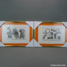 Arte: PAREJA GRABADOS ANTIGUOS S XVIII ESCENAS UNIFORME DE LEGIONARIO Y ARMAS DE CAMPAÑA LOTE 120. Lote 128659163